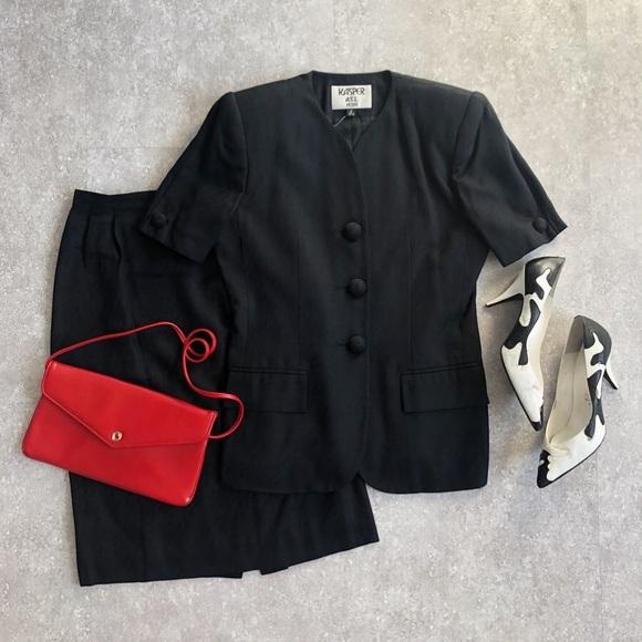 Kasper Dresses & Skirts - Vintage Houndstooth Skirt Suit